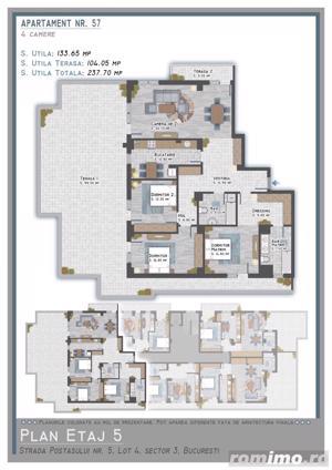 Penthouse 4 camere zona Titan, finisaje lux- direct dezvoltator - imagine 8