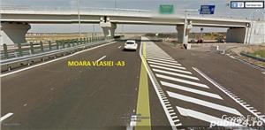 Teren Snagov latura padure 9,5 HA  -Autostrada A3  - imagine 3