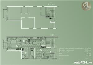 Proprietar vand ap.3 camere ,vila noua 73mp+balcon 3mp ,curte interioara verde-zona Lunei - imagine 4