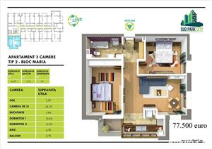 Brancoveanu-Berceni, Apartament 3 camere, Sud Park City - imagine 4