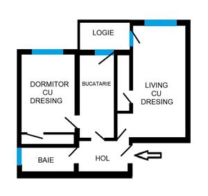 Dezvoltator apartam 2 cam intabulat 62+6 mp et 2 finisat la cheie Selimbar - imagine 9