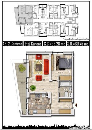 apartament 2 camere, 61 mp, direct dezvoltator - imagine 2