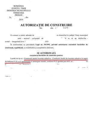 Teren 1410mp cu Autorizatie bloc in Mehala 89 Euro/mp - imagine 5
