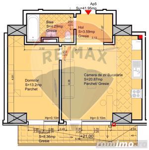 Apartament cu 2 camere de vânzare în zona Nord - imagine 8