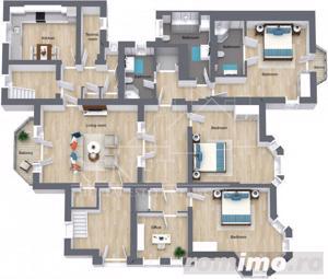 Apartament nemobilat 190 mp - cu acces separat - Piata Victoriei - imagine 6
