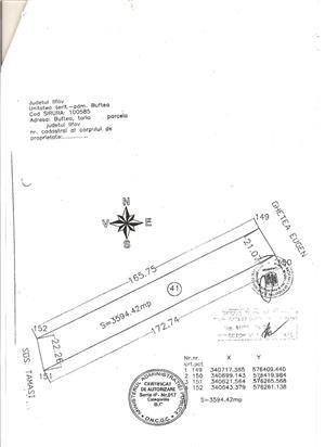 Teren  in suprsfata de 3595 MP. LA SOSEA BUFTEA GARA -ROMBIZ ,INDUSRTIAL - imagine 2