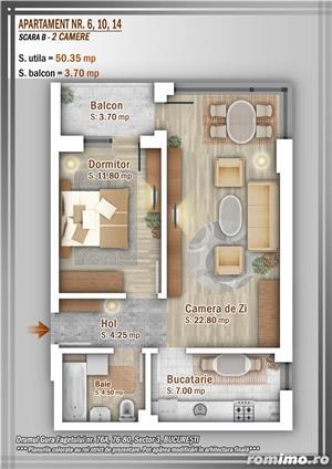 Apartament 2 Camere 55 mp, 53000 euro, Tva Inclus, Titan, Pallady, Trapezului sector 3 - imagine 11