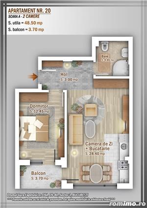 Apartament 2 Camere, 51 mp, Dezvoltator, Bucuresti sector 3, Pallady, Titan - imagine 9