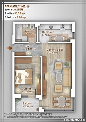 Apartament 2 Camere, 51 mp, Dezvoltator, Bucuresti sector 3, Pallady, Titan - imagine 21