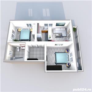 Vand apartament 3 camere Calea Cisnadiei 53mp , 80 mp gradina 64700 euro - imagine 16