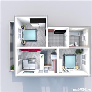 Vand apartament 3 camere Calea Cisnadiei 53mp , 80 mp gradina 64700 euro - imagine 18