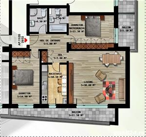 Apartament 3 camere in bloc nou, mobilat-utilat + loc parcare subteran - imagine 8