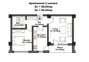 Vanzare apartament 2 camere in spatele complexului Primavara, comision 0 - imagine 16