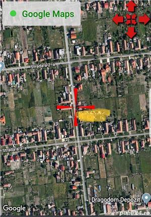 Sacalaz, 2 teren casa 500 si 475 mp, asfalt, curent, apa, gaz,  de la 23000euro                    - imagine 3