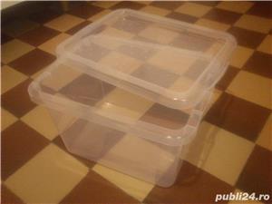 Vas recipient cutie cu capac 13 L ptr animale mici pesti 10 lei - imagine 1
