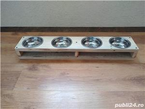 Suport cu 2 boluri pentru mancare/apa, pisici/catei - imagine 5