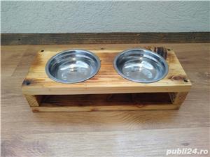 Suport cu 2 boluri pentru mancare/apa, pisici/catei - imagine 4