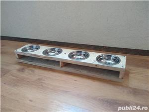 Suport cu 2 boluri pentru mancare/apa, pisici/catei - imagine 6