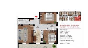 Promotie! Apartament 3 camere 84mp Berceni Dimitrie Leonida - imagine 2
