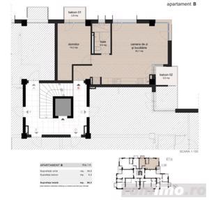 Apartament nou cu 2 balcoane, loc parcare inclus - imagine 3