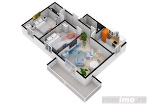 Apartament cu 3 camere | 61,6 mpu | Selimbar | COMISION 0% - imagine 2