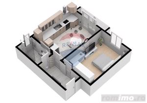 Apartament | 2 camere  | 52.6 mpu | Comision 0% - imagine 2