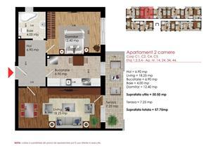 Apartament 2 Camere  Dimitrie Leonida 51900 Euro - imagine 9
