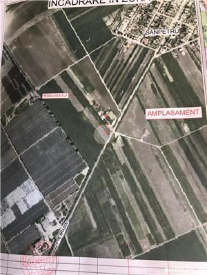 Teren cu fundație stradal in localitatea Sânpetru  - imagine 2