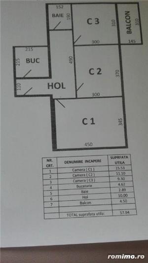 Gh.Lazar apartament 3 camere,et 1 din 10,renovat,7 minute de centru,pret 71.000 euro - imagine 8