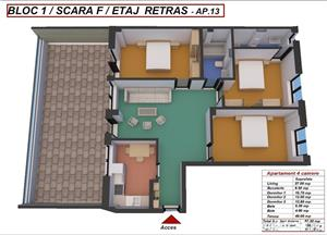 Dezvoltator penthouse 4 cam 2 bai etaj 2 la alb conf 1 decomandat 87+49 mp - imagine 9