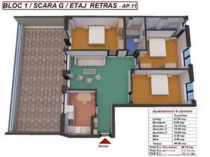 Dezvoltator apart tip penthouse 4 cam 2 bai la alb 89mp+46mp Turnisor - imagine 4