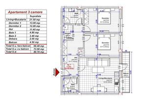 Dezvoltator apartam 3 cam 2 bai 70+5 mp conf 1 la alb Turnisor - imagine 8