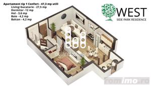 Apartament 2 camere West Side Park Residence II - imagine 9