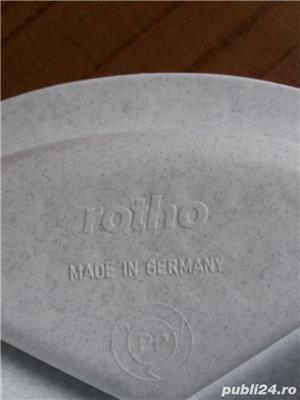 Bol/castron dublu NOU- mancare/apa caini- ROTHO- Germania - imagine 4