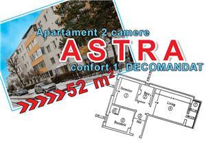 Apartament 2 camere, Astra, 1 decomandat, 52 mp, liber - imagine 1