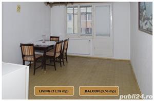 Apartament 2 camere, Astra, 1 decomandat, 52 mp, liber - imagine 3