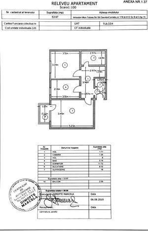 Proprietar Vand Apartament 2 camere suprafata:56 m² complet mobilat. Pret negociabil - imagine 2
