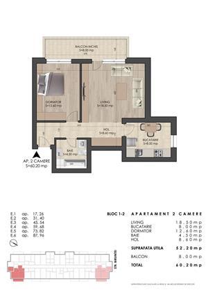 METROU DIMITRIE LEONIDA - Apartament 2 camere 60mp - PRIMA CASA - imagine 2