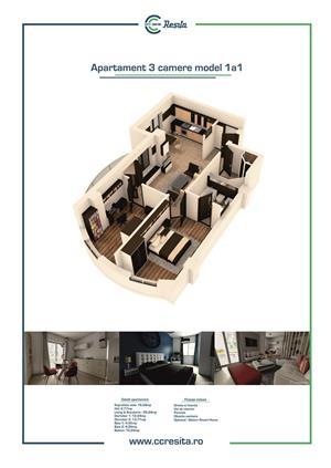 Apartament 3 camere-model 1A1, ansamblu rezidential City Center Resita - imagine 2