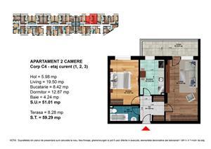 METROU DIMITRIE LEONIDA - Apartament 2 camere 59mp - PROMO - imagine 3