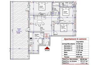 Dezvoltator penthouse 4 cam superb 99mp + terasa 58mp la alb etaj 2 Turnisor - imagine 6