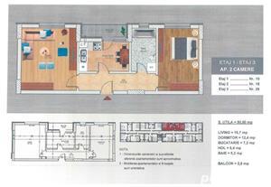 [METROU BERCENI 200METRI] Apartament 2 camere 51mp - Proiect NOU! - imagine 2