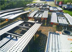 de inchiriat trailer dublu platforma transport doua auto remorci cu prelata auto moto atv - imagine 6