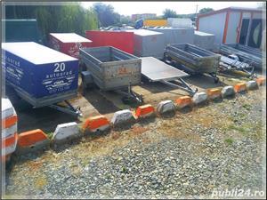 de inchiriat trailer dublu platforma transport doua auto remorci cu prelata auto moto atv - imagine 5
