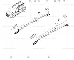 Set bare portbagaj, originale Dacia Dokker, noi - imagine 3