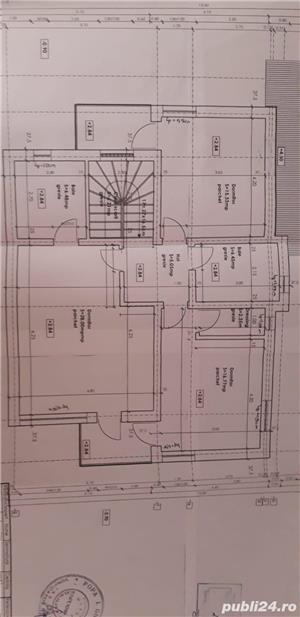 Proprietar!Vand casa cu 4 dormitoare, living, bucătărie, 3 bai, cămară,  dressing, garaj. - imagine 4