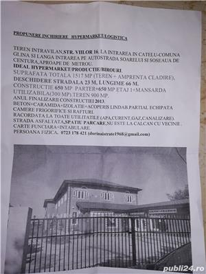 CONSTRUCȚIE + TEREN INTRAVILAN CĂȚELU-COMUNA GLINA - imagine 11