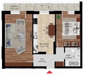 OFERTA 2 camere decomandat 66mp, Berceni-Leonida, direct dezvoltator, bloc nou - imagine 7
