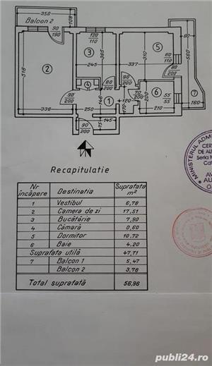 Teiul Doamnei vanzare apartament de 2 camere cu 2 balcoane - imagine 6