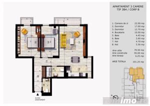 3 camere Pitesti 101 mp | Ultracentral Victoriei | Finisaje  - imagine 4